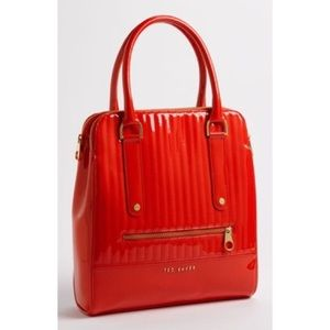 Ted Baker | Quilted Red Patent Tote Bag